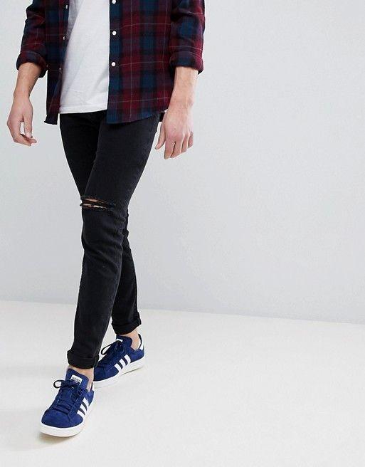 ASOS - Jean skinny avec genoux déchirés