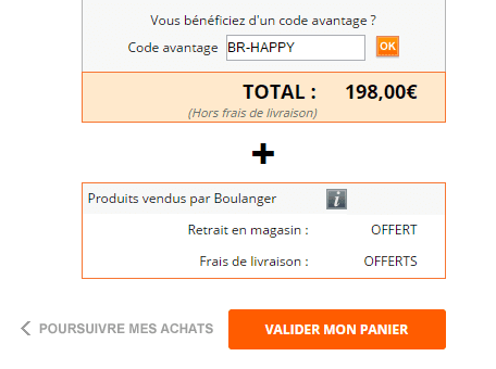 Boulanger coupons de reductions