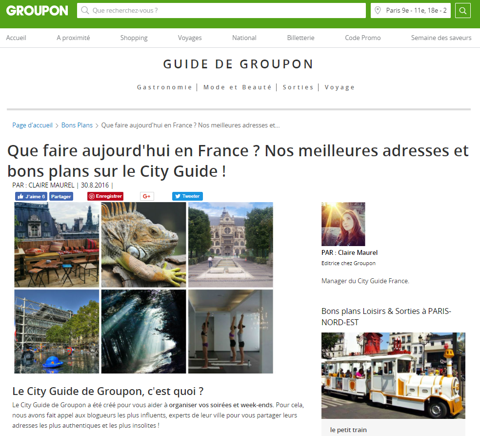 city guide Groupon