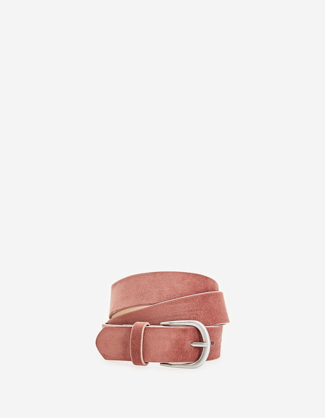 ceinture velour rose